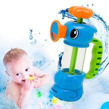 Baby Bath Water Toys Sea Horse Sprinkler Pumping Design Colourful Hippocampal Shape Eco-friendly Plastic ABS kid Baby Bath Toy(China)