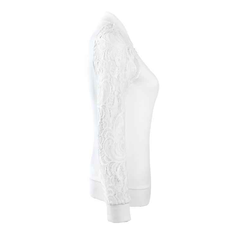 Lace Autumn Women Jacket White-2