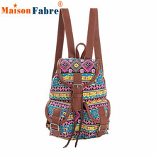 Women National Wind Printing Drawstring Backpacks Ladies Casual Girls Shopping Backpack Female LeisureTravel La Mochila Dec26