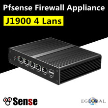Eglobal 4 * Intel WG82583 Gigabit LAN безвентиляторный Pfsense Mini PC J1900 4 ядра 2,42 ГГц межсетевого экрана сетевой безопасности маршрутизатор Windows PC(China)