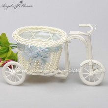 PE storage rattan tricycle artificial flowers wedding decoration living room dining table