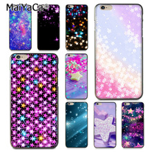Buy MaiYaCa Glitter Stars Newest Super Cute Phone Cases Apple iPhone 8 7 6 6S Plus X 5 5S SE 5C case Cover for $1.47 in AliExpress store