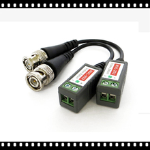 AHWVSE 2pcs 3000FT Distance UTP Video Balun Twisted CCTV Balun Passive Transceivers BNC Cable Cat5 CCTV Adapter(China)