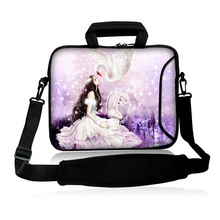"Neoprene 10""13""14""15""17"" The Princess And White Swan Model Netbook Handbag Messenger Handle Shoulder Sleeve Pouch Case Cover(China)"