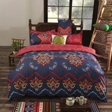 Bohemia Exotic Patterns Bedding sets Reversible Color Design Polyester Bedding set Duvet cover flat sheet and pillow cases