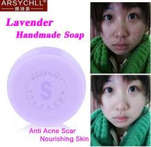 Hot Selling Handmade Magic Lavender Soap Pure Natural Oil-control Anti-Dandruff Off Fcae Care(China)