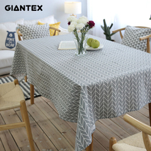GIANTEX Pastoral Arrow Pattern Decorative Table Cloth Cotton Linen Tablecloth Dining Table Cover For Kitchen Home Decor U1099(China)