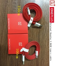 Original Oneplus flat Noodl RED 1m/1.5m DASH Fast Quick charge data sync Type c cable For One plus  three T five 1+ 3 3T 5 A5000