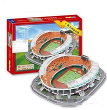 3D puzzle DIY toy paper building model China Guangzhou Tianhe Sports Center football Stadium assemble game kid birthday gift set(China)