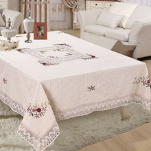 150*220cm Polyester Embroidered Tablecloth Square Table Cloth For Wedding Party Handmade table covers home decoration XH003