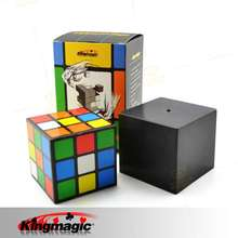 Triple Diko Cube Magic Props Magic Cube Illusion Magic Disappear Toys Tricks Free Shipping(China)