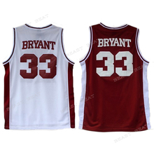 Retro Kobe #33 Lower Merion High School Basketball Jesery Bryant Red White Summers Breathable Classical Streetball Jerseys