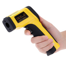 Digital Dual Laser Infrared Thermometer Non-contact IR High Temperature Gun Tester Pyrometer with Backlight LCD Display -50-650C