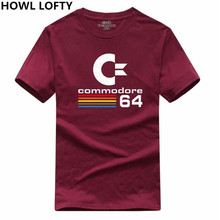 HOWL LOFTY Contton Summer 64 T Shirts C64 SID Amiga Retro 8-bit Ultra Cool Design Vinyl T-shirt Mens Clothing With Short Sleeve(China)