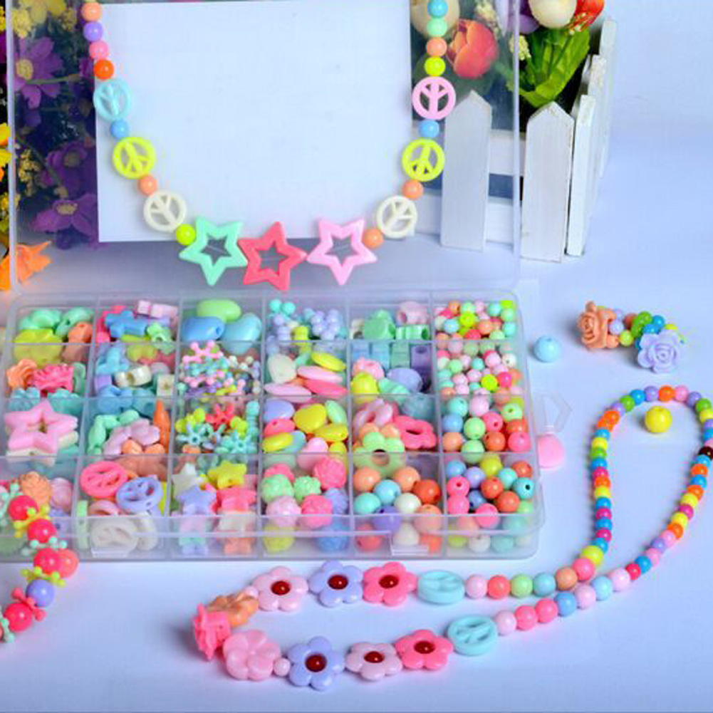 Sweets - Assorted Plastic Acrylic Bead Kit Accessories DIY Bracelets Toys Jewelry Making Bead Kit