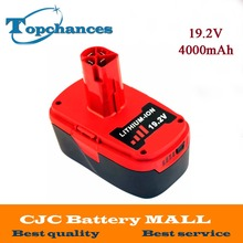 High Quality 19.2V 4000mAh Li-Ion Power Tool Battery For Craftsman C3 11374 11375 130285003 CRS1000 10126 11569 11585(China)