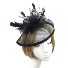 Newly Derby Fascinator Victorian Style Hats Headband Halloween Caps 5 Colors