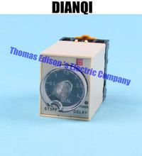 Power Off Delay Timer Time Relay 0-3 Minute 3M ST3PF with socket base AC 220V