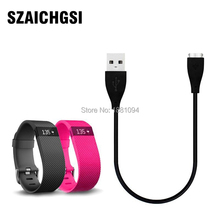 SZAICHGSI New USB Charger Charging Cable For Charge HR Smart Wristband good quality wholesale 100pcs/lot(China)