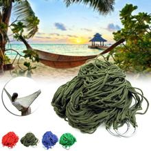 Net Style Mesh Nylon Hammock Hanging Outdoor Garden Swing Sleeping Bed Swing Strong Hammock for Camping / Hiking / Beach