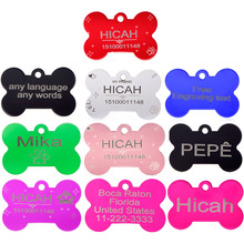 2pcs for Dog Tags Personalized Pet Tags Customized Pet ID Tags for dog and cat Free Laser Engraving Dog ID Tags Aluminium(China)