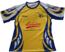 Specialized 100% polyester made sublimation custom rugby jersey