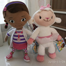 Free Shipping 1set Original Doc McStuffins plush soft toys,Dottie girl and McStuffin Lambie sheep plush for Children & baby gift