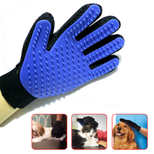True Touch Pet Cat Bath Glove Cat Deshedding Brush Pet Massage Grooming Tool Dogs Shower Cleanning Silicone Five Finger Glove