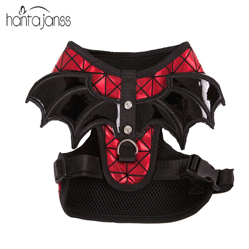 HANTAJANSS Soft Mesh Dog Harness No Pull Comfort Padded Vest for Small Pet Cat and Puppy Teddy Bat Wings Design Pet Accessories(China)