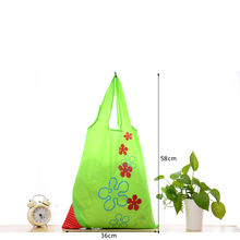 Best Sale Nylon Foldable Reusable Shopping Bags Strawberry Tote Eco Storage Handbag(China)