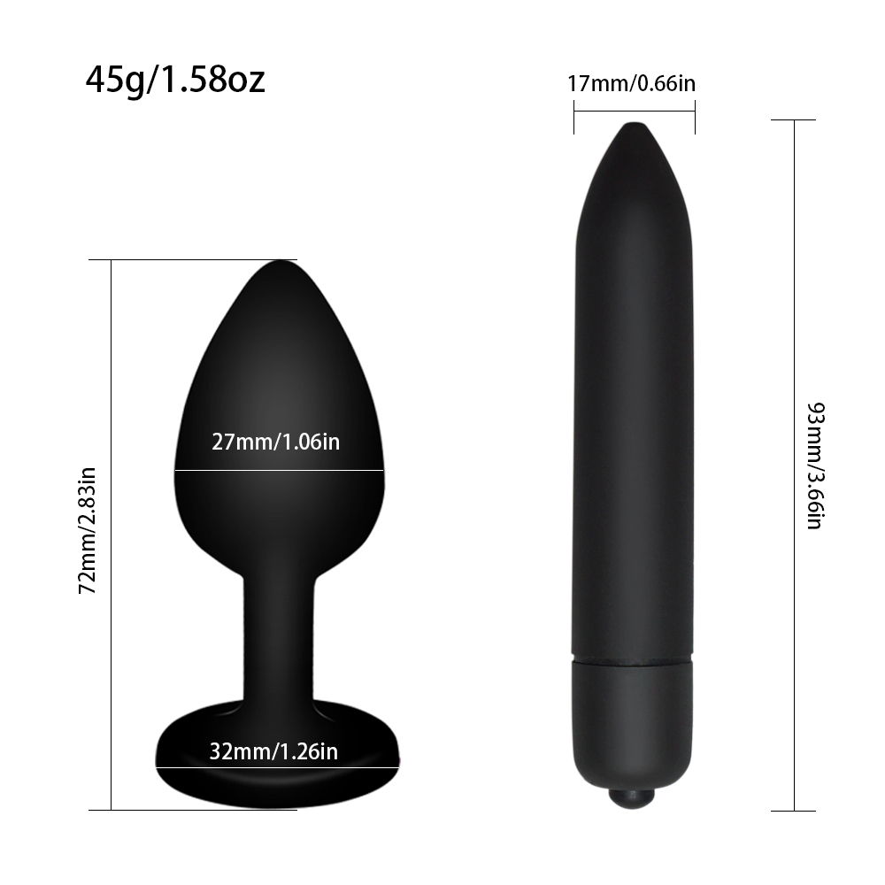 Silicone-Butt-Plug-Anal-Sex-Toy-Jewelry-Anal-plug-10-Speed-Mini-G-Spot-Bullet-Vibrator (1)