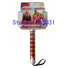 Marvel Brinquedos Movie and Anime Avengers Action Figure Lamp Juguetes 1:1 Length 30cm Light and Sound Thor Hammer Prop Toys