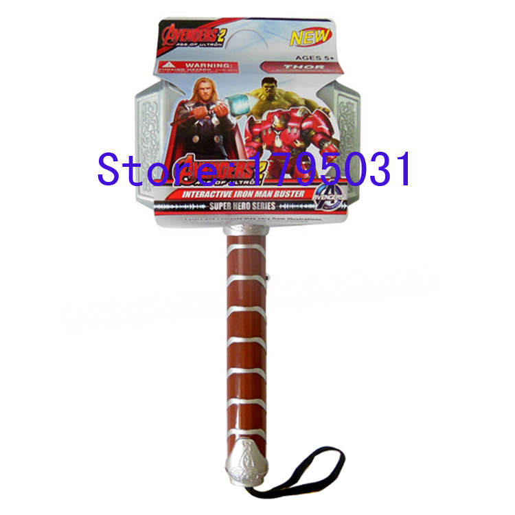 thor hammer toy. marvel brinquedos movie and anime avengers action figure lamp juguetes 1:1 length 30cm light thor hammer toy l