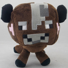 Hot Sale 16cm Minecraft Plush Toys Minecraft Brown Cow Plush Toys Doll Stuffed Animal Toys Baby Toys Gift