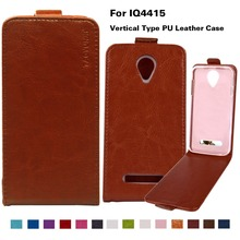 DIY  Flip Leather Mobile Phone Cases For fly iq4415 iq 4415 quad era style 3 Cover PU Case 14 Colors With Vertical Magnetic