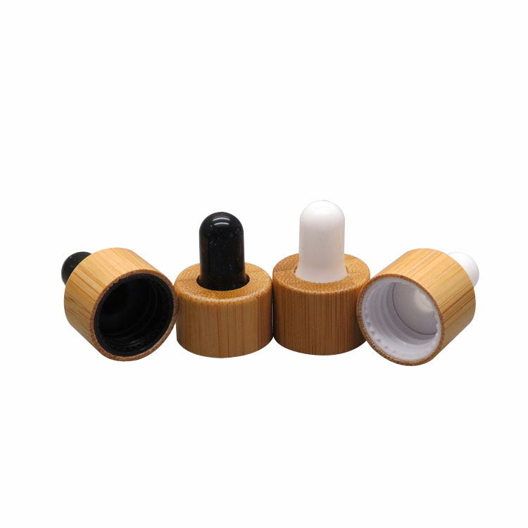 20/100pcs 18/410 20/410 bamboo white/black gel head dropper cover cosmetic liquid bottle lid without glass pipette and bottle<br>