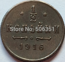Russian Copper Coins 1/2 Kopek 1916 copy Free shipping