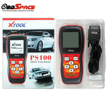DHL Free 100% original free update via internet XTOOL PS100 CAN OBDII/EOBDII scanner PS 100