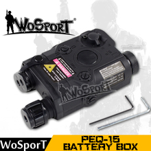 WOSPORT Tactical PEQ-15 LA-5 Battery Case Box Airsoft Hunting Equipment for Tactical Gear Use for Fast Helmet(China)