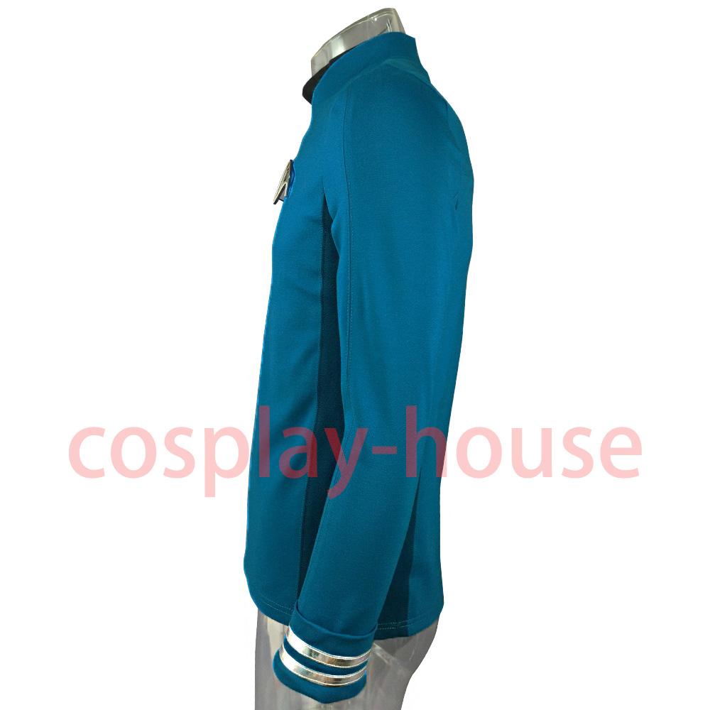 Cosplay Star Trek Custume Beyond Blue Captain Kirk Uniform Spock Blue Uniform Badge Scotty Red Halloween Party Prop (2)