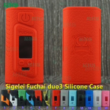 5pcs Most Popular Product of Sigelei Fuchai Duo 3 175W 175 Watts USB TC Mod Silicone Protective Case Cover Skin free shipping