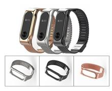 Buy Screwless Metal Strap Band MiBand 2 Wristbands Stainless Steel Bracelet Xiaomi Mi Band 2 gift Screen Film Protector for $7.21 in AliExpress store