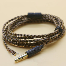 DIY ie800 headphone cable transparent black high-end earphone cable UE18 core single crystal copper wire(China)