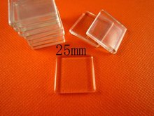 20pcs 1inch(25mm) Flat Square Glass Tiles Pendant 5