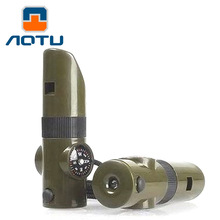 AOTU 7 in 1 Outdoor multifunctional whistle Seven and whistle life saving 518