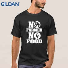 tee shirt make a NO FARMS NO FOOD - farmer homestead crops - Stretch make ali shirt 8 Colors for men(China)