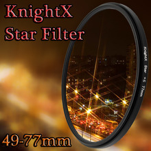 KnightX 49MM 52mm 55MM 58mm 67mm 77MM Star Filter for Canon EOS Rebel T3i T5i 60D 7D 5D EF-S d5200 d5300 d3100 d3200 70D 700D 52
