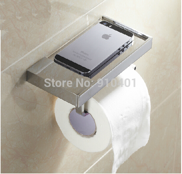 Hot Sale Wholesale And Retail Promotion Modern Square Chrome Roll Toilet Paper Holder Bathroom Tissue Holder W/ Cover<br><br>Aliexpress