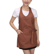 Cafe Restaurant Chef Pinafore Waiter Waitress Bib Kitchen Cooking Apron Women Men Long Apron Household Cleaning Tools(China)