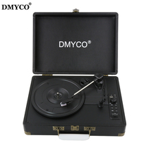 Original DMYCO Bluetooth 3-Speed Stereo Turntable Phono Vinyl Record Player with Remote Control Support USB/RCA Audio Out(China)